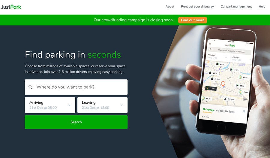 JustPark raises £2.7m in crowdfunded round