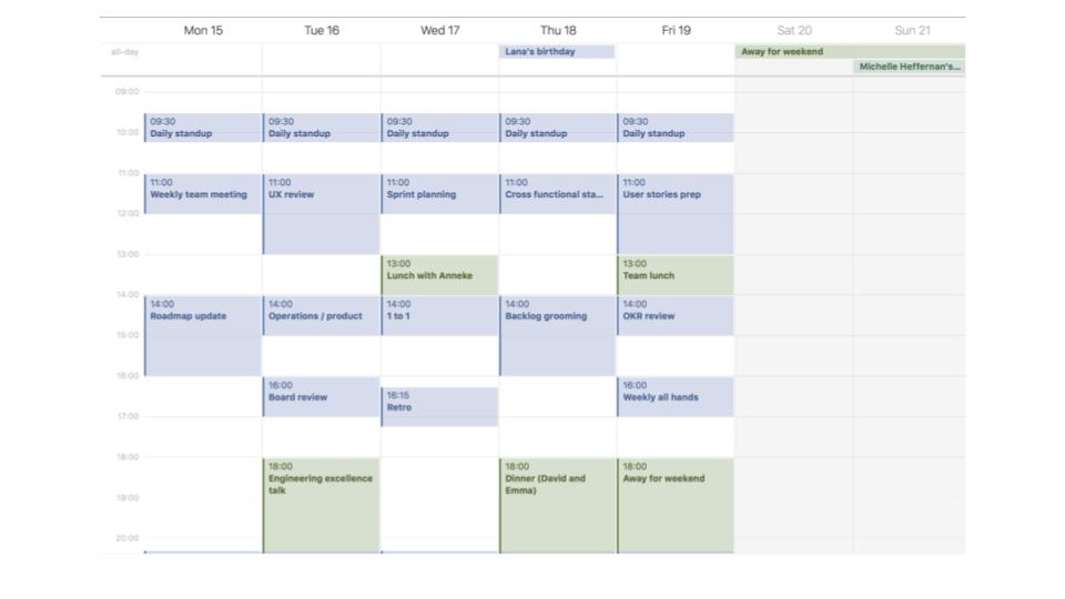 calendar meeting