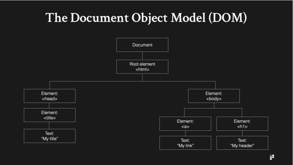 the document object model and hierarchy